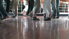 Dancing on a deck of cruise ship 7 Stock Footage