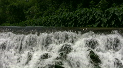 Waterfall Espada Dam SAT TX HD Stock Footage