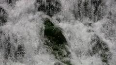 Waterfall Espada Dam closeup rocks HD Stock Footage