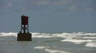 Surf marker bouy HD Stock Footage