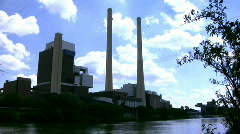 Coal Fired Power Station Stock Footage