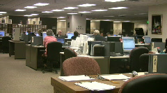 Salt Lake City Mormon Geneology work area HD - stock footage