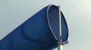 Blue windsock Stock Footage