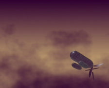 Fantasy flying machine (PAL) Stock Footage
