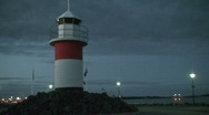 Stock Video Footage of Lighthouse at night 2