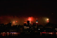 July 4th Fireworks NYC Timelapse 4 - stock footage