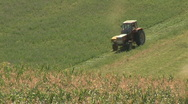 Stock Video Footage of tractor on grassland