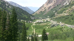 Alta from mountain to valley Utah HD Stock Footage