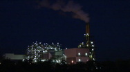 Stock Video Footage of Industrial complex at night