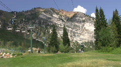 Snowbird lifts and zipline HD Stock Footage