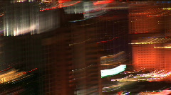 Las Vegas strip lights abstract - stock footage