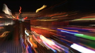 Las Vegas strip lights abstract Stock Footage