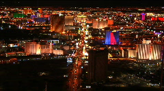 Stock Video Footage of Vegas strip night