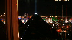 Vegas strip elevator down Stock Footage
