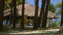 Jm216-DR-Beach Hut Stock Footage