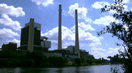 Stock Video Footage of Coal Fired Power Station
