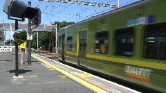 Train Level Crossing Stock Footage