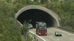 Stock Video Footage of German Autobahn traffic