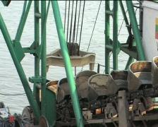 Mechanical shovel - stock footage
