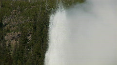 Old Faithful - close & zoom out - stock footage