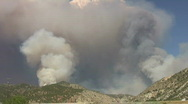 Forest fire smoke in distance HD Stock Footage