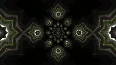 Fractal Kaleidoscopic stars Stock Footage