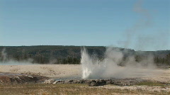 Erupting small geyser Stock Footage