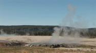 Erupting small geyser Stock Footage