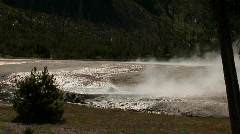 Erupting geyser - zoom in Stock Footage