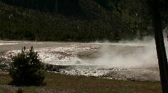 Erupting geyser - zoom in - stock footage