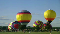 Hot Air Balloon Launch Stock Footage