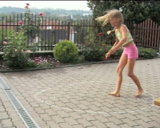 Girl flipping 02 Stock Footage