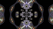 Stock Video Footage of Futuristic fractal Kaleidoscope