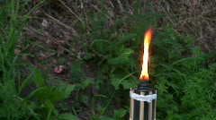 Burning torch 3 Stock Footage