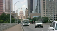 Stock Video Footage of Austin Texas Bridge to Capital Closeup HD
