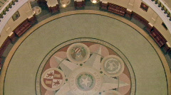 Austin Texas Capital Bldg Rotunda Floor HD Stock Footage