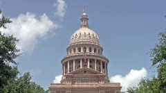 Austin Texas Capital Building Front Dome HD Stock Footage