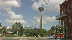 Hemisfair Park Road San Antonio HD - stock footage