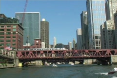Chicago River - stock footage