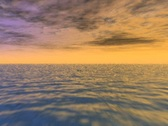 Ocean Flyover at Sunset Stock Footage