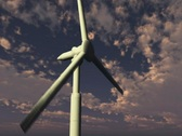 Windmill at Twilight Stock Footage
