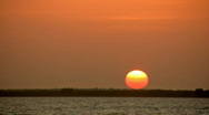 Stock Video Footage of Sunset orange setting time lapse HD