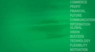 Nostalgia business terms green Stock Footage