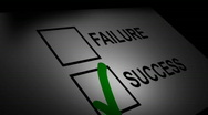 Success and Failure Scroll Stock Footage