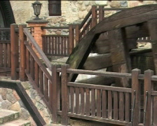 Whirling old wooden waterwheel 04 Stock Footage