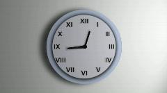 Blue Clock Roman Time Lapse Stock Footage