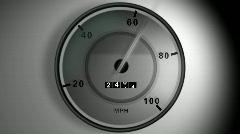 Speedometer - stock footage
