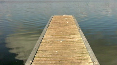 Boat dock straight out HD Stock Footage