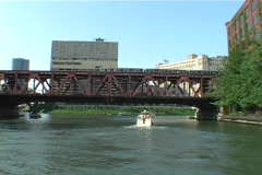 Chicago River Tour Stock Footage