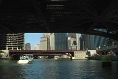 Chicago River Tour 4 - stock footage